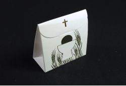 Ballotin à dragées sachet pour communion ivoire