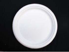 Assiette compostable canne à sucre prémium Ø23cm