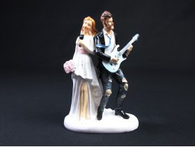 Figurine pour mariage – Couple micro et guitare