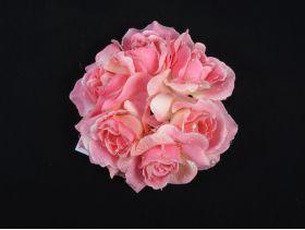 Couronne de roses perlées – rose