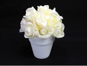 Pot de roses – ivoire