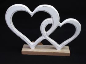 Coeur entremêlé bois de 23x16cm