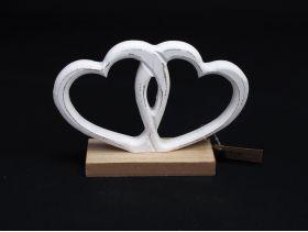Coeur entremêlé bois de 15x15cm