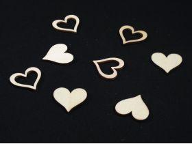 Coeur en bois déco mariage – naturel
