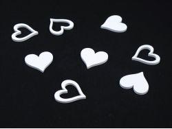 Coeur en bois déco mariage – blanc