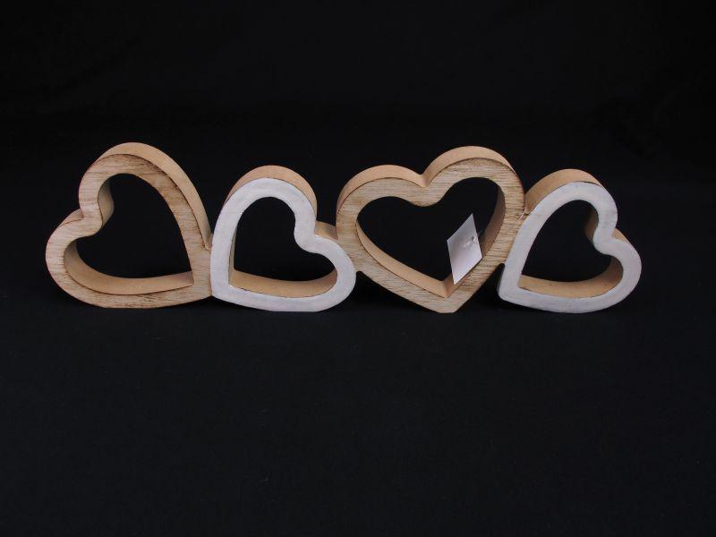 Coeur quatuor en bois