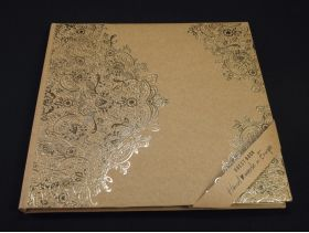 Livre d'or couverture cartonnée kraft arabesque or 21x19,7cm