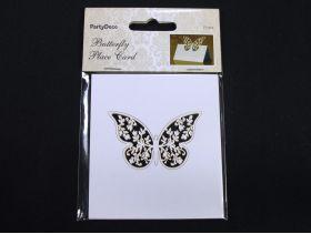 Marque place papillon fleur découpé x10