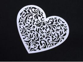 Coeur fleur découpé à disperser déco mariage 12x10cm