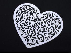 Coeur fleur découpé à disperser déco mariage 13,5x11,5cm
