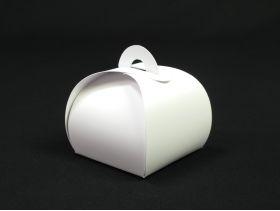 Contenant à dragées ballotin bourse papier kraft blanc x10