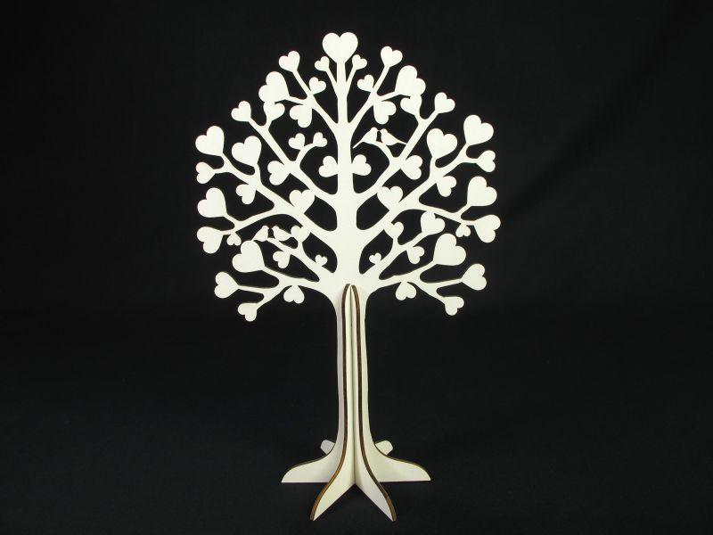 Arbre à Voeux Sculpté En Bois Déco De Table 30cm