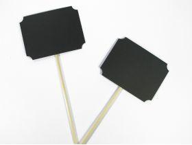Pic tige tableau noir pour déco de table 24cm