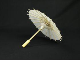 Ombrelle en bois et papier blanc Ø17cm
