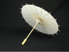 Ombrelle en bois et papier blanc Ø30cm
