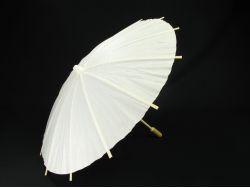 Ombrelle en bois et papier blanc Ø40cm
