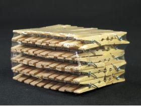 100 mini pinces à linge bois pour déco de table 3,5cm