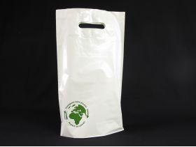 SAC PE BD PDR 2 BOT 50µ 24*40+4,5cm /100 BLANC SMART GREEN