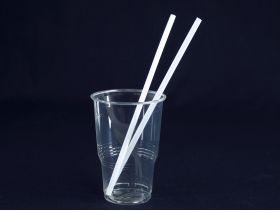 Paille recyclable PLA blanc Ø0,6 x 21cm