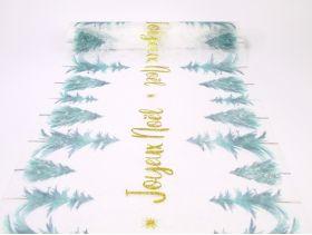 Chemin de table romance 30cm*5m /1 mes beaux sapins joyeux noël or
