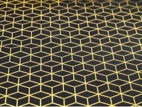 Chemin de table velours metal 28cm*3m /1 cubic noir or