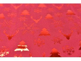 Chemin de table velours metal 28cm*3m /1 xmas rouge
