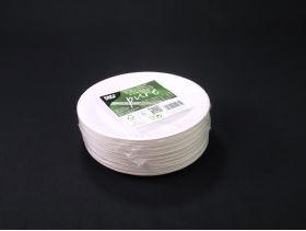 Assiette carton ronde biodégradable Ø15cm x100 blanc