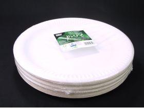 Assiette carton ronde biodégradable Ø29cm x50 blanc