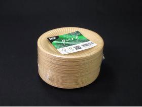 Assiette carton ronde biodégradable Ø15cm x100 brun