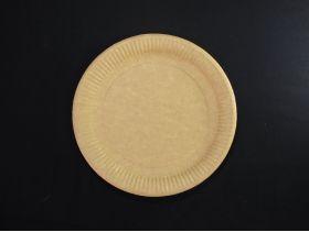Assiette carton ronde biodégradable Ø23cm x100 brun