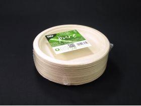 Assiette ronde en fibre de canne biodégradable et recyclable Ø18cm