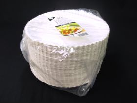 Assiette carton ronde creuse Ø23x3cm x100 blanc