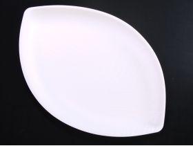 Assiette canne a sucre motif 23,5x36,5cm x50 blanc