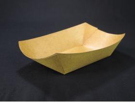Barquette carton rectangulaire 690ml 140x85mm x250 brun