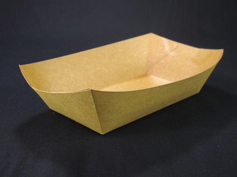 Barquette carton rectangulaire 900ml 170x100mm x250 brun