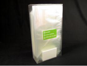 Sachet bonbon 17x32cm plastique pp transparent fond plat