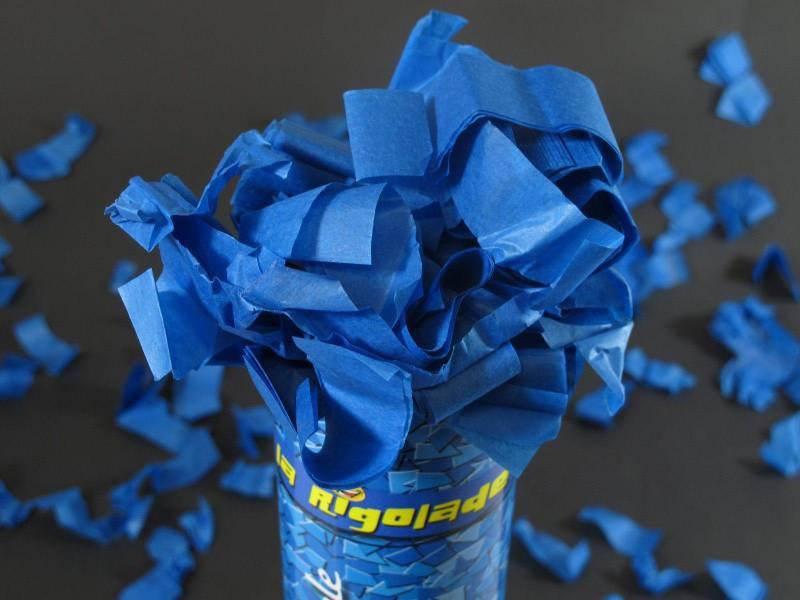Grand Canon à confettis - Bleu Roi